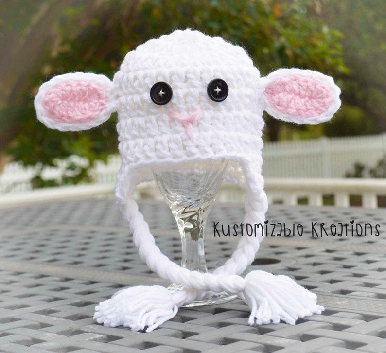 ec8e2cc163c Newborn lamb hat baby lamb hat lamb hats crochet lamb hat