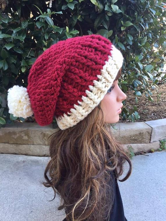 chapeau de père Noël femmes bonnet de Noël tuque Mesdames   Etsy ada24c2055d