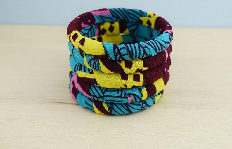 African jewelry Ankara fabric bracelet Ankara bracelet gift African fabric wood bangle Fabric African bracelet African fabric bracelet