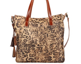 380c4c5f18f8 Leopard print bag Ideal everyday leather bag