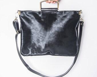 7ef089bfd9a4 Black leather purses for women minimal leather bag medium crossbody bags  soft black leather handbags for wome leather cowhide bag