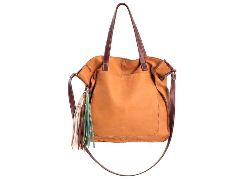 0916a4686a8e Leather tote brown tote bag soft leather purse shopper bag