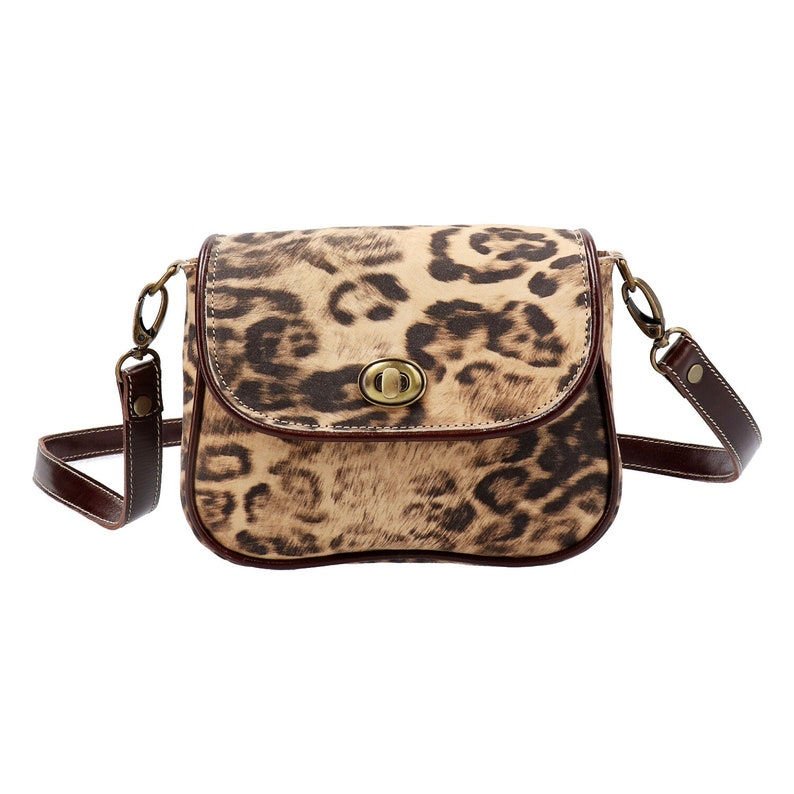e7df52ac4970 Small cross body bag Leopard printed purse animal print bag   Etsy
