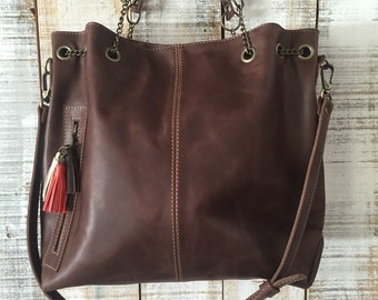 Leather bag, Oversize crossbody bag, Women purse, ready to ship purses