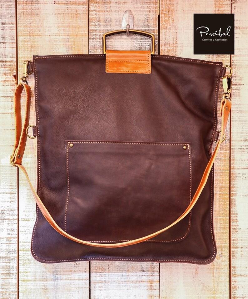 7728739f6b Café sac cabas marron sac en cuir mac sac pour ordinateur | Etsy