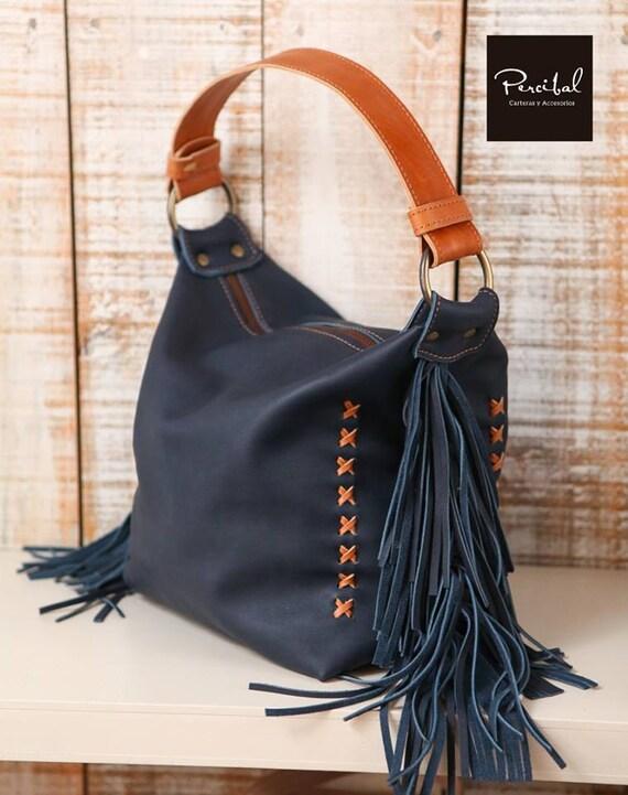 313df34ea7 Leather fringe purse tassels leather bag medium hobo bags