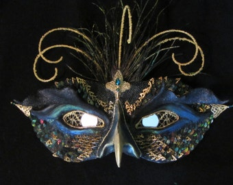 Mask Polymer Clay OOAK The Abyss Looks Back