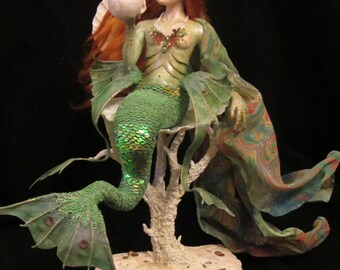 Mermaid OOAK Mixed Media Sculpture