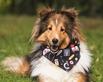Puppy Wear Personalized Over The Collar Dog Bandana Pet Scarf Doctor Nurse Healthcare