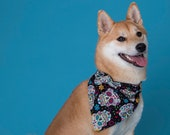 Day of the Dead Dog Bandana, Dia De Los Muerto, Sugar Skull Dog Bandanna, Dog Costume Accessories, Pet Gift, Birthday Gifts For Dog Lovers