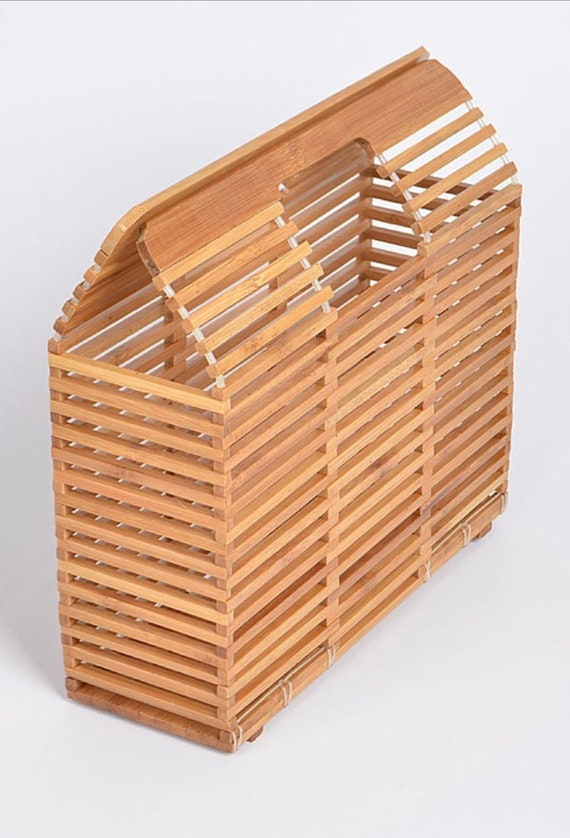 Bamboo Slat Clutch Bag
