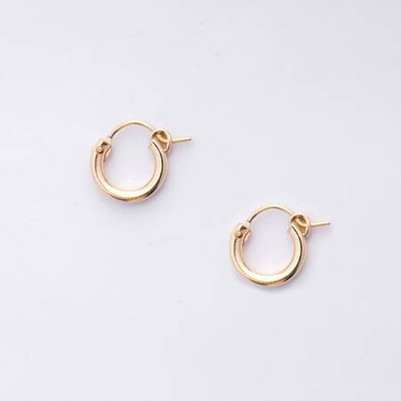 Small Hoop Huggie Earrings