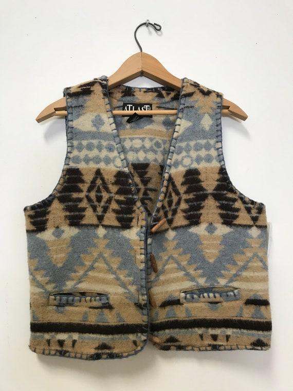 Vintage Aztec Wool Vest