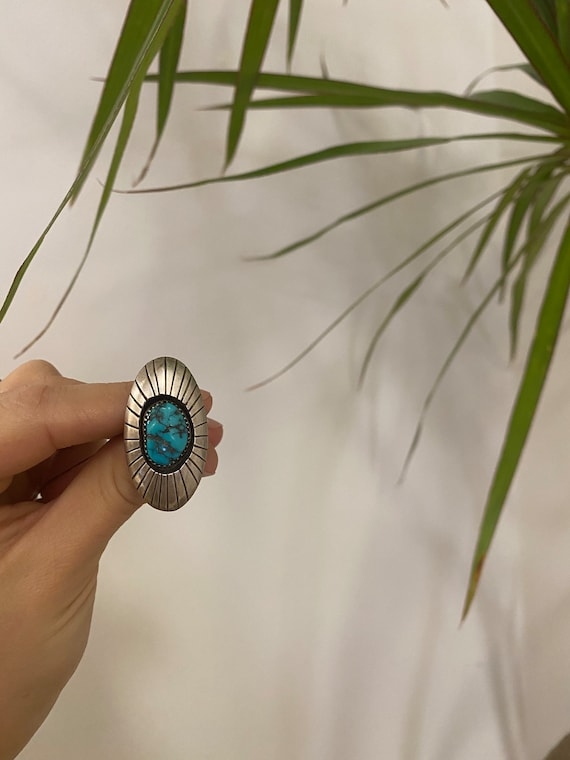 Vintage Sterling Silver + Turquoise Ring