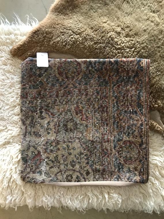 "Vintage Pile Rug Pillow 24""x24"""