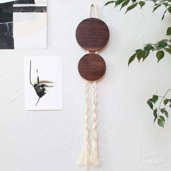 Boheme Oval Wood Wall Hanging