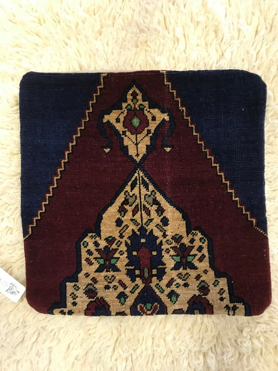 "Vintage Pile Rug Pillow 20""x20"""