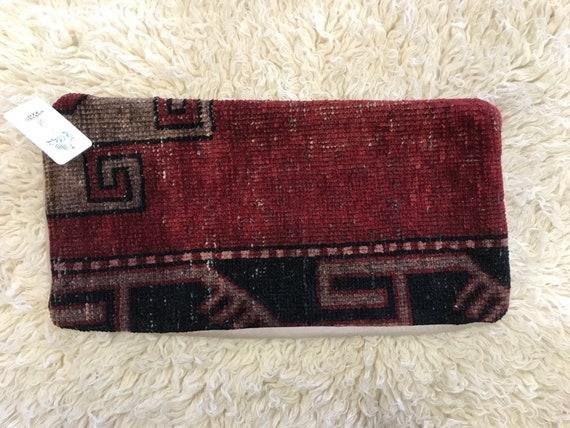 Vintage Pile Rug Lumbar Style Pillow
