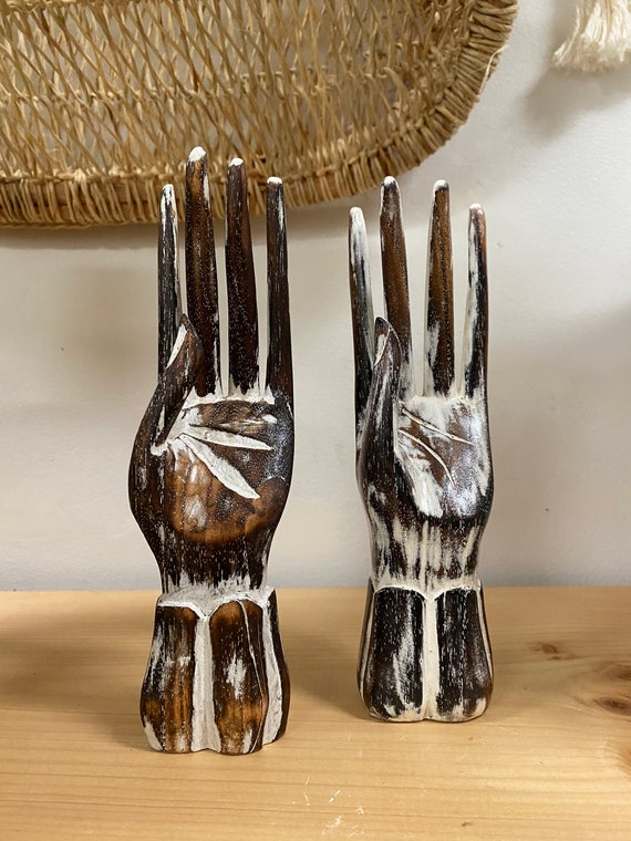 Hand Carved Wooden Hand