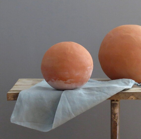 Handmade Terra Cotta Garden Globes