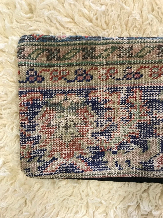 Vintage Pile Rug Lumbar Pillow