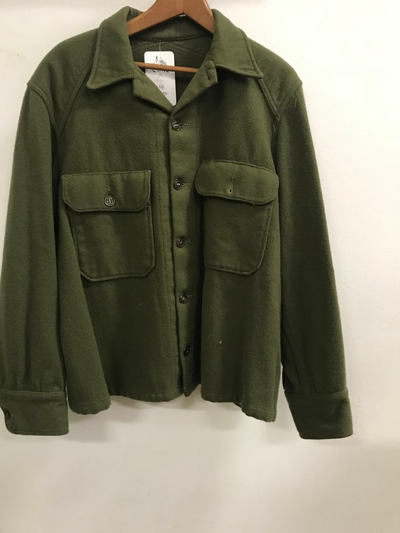 Vintage Army Button Down Jacket