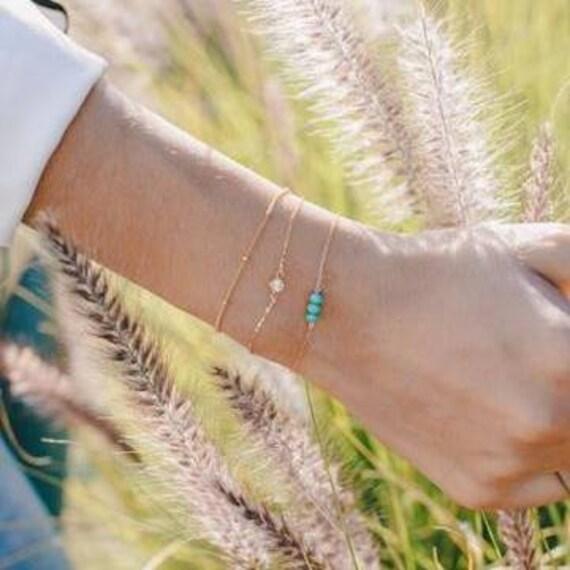 Dotted Gold Filled Bracelet