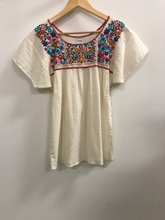 Vintage Embroidered Cotton Top