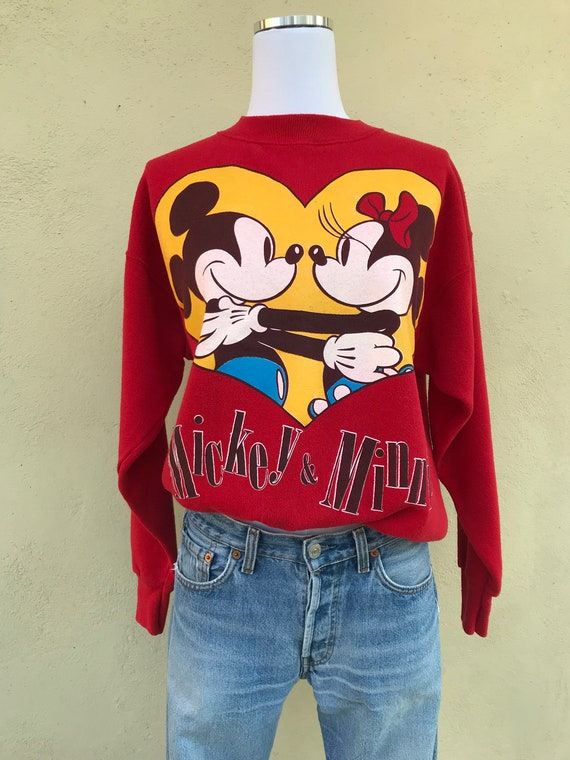 Vintage Mickey & Minnie Mouse Pullover