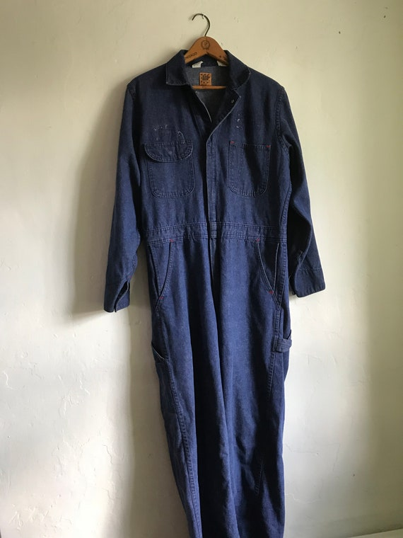 Vintage Denim Coverall Jumpsuit