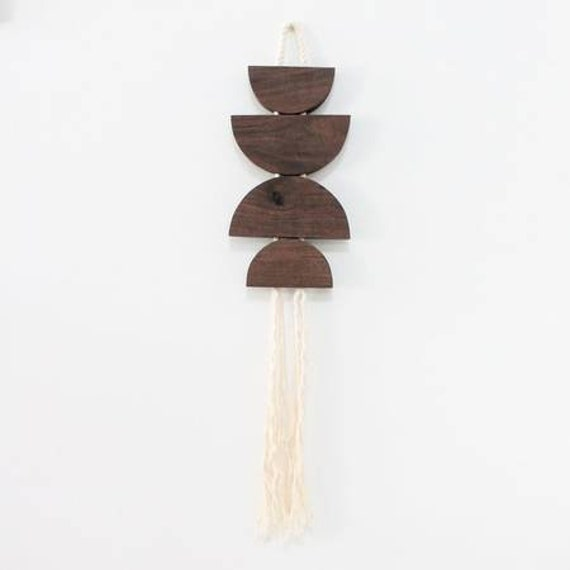 Modern Half Moon Boheme Wood Wall Hanging