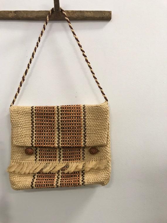 Vintage Woven Fringe Shoulder Tote Bag