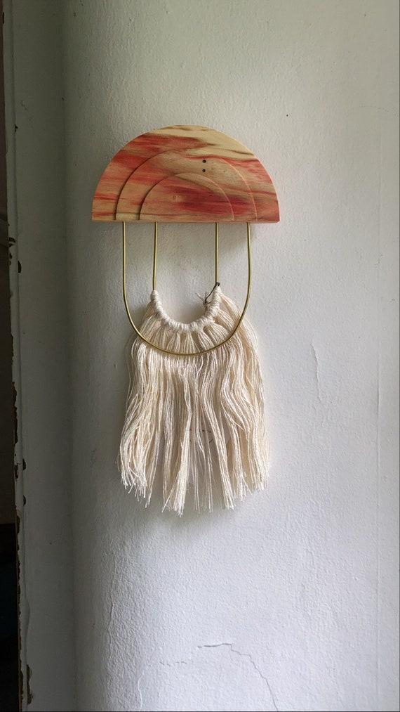 Box Elder, Brass +Linen Wall Hanging