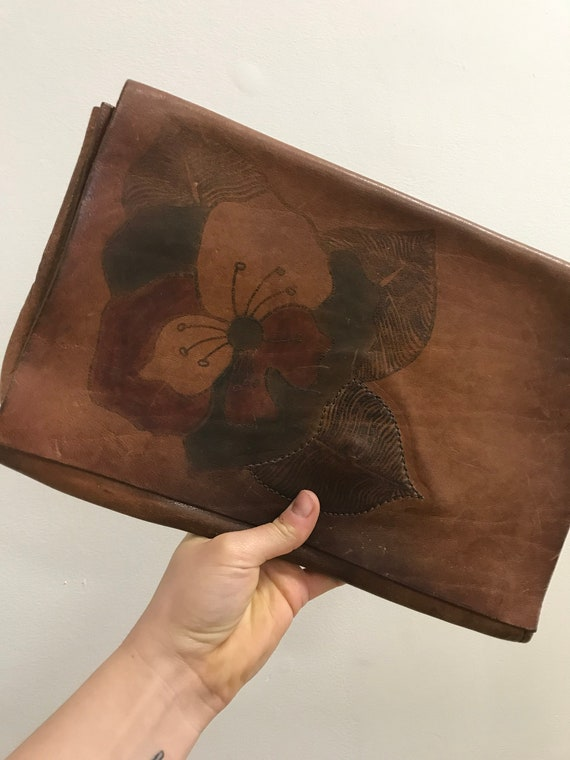 Vintage 70's Leather Clutch