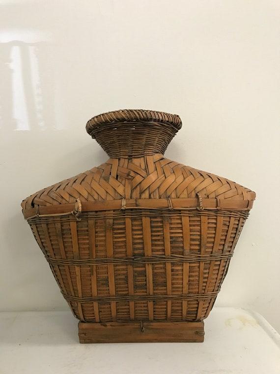Vintage Rattan/Bamboo Vase