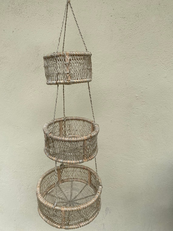 Handmade Tree Bark Hanging Basket