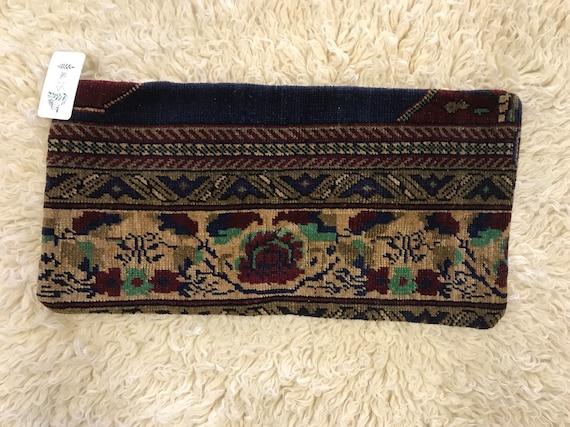 Vintage Lumbar Style Pile Rug Pillow