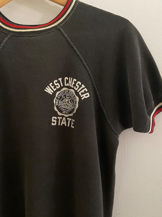 Vintage West Chester State Short Sleeve Sweatshirt