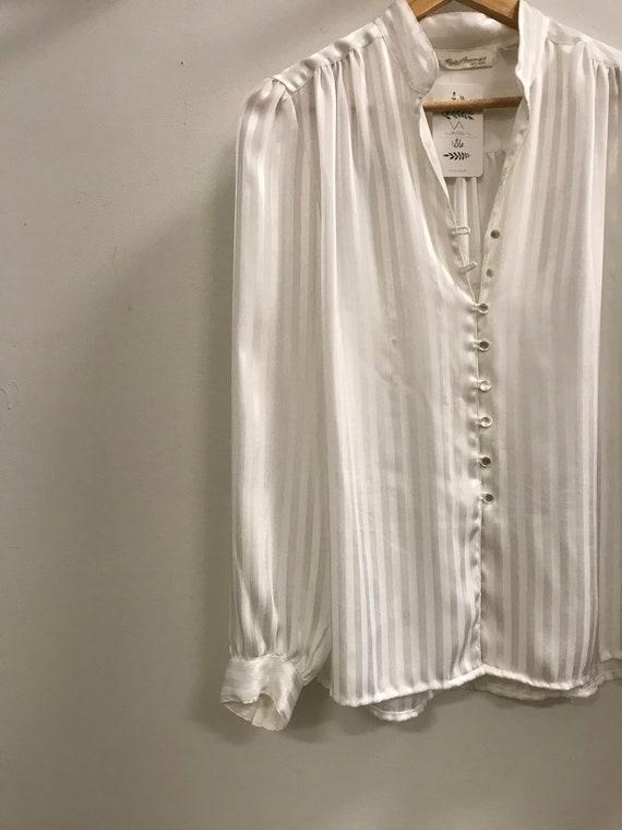 Vintage Button Up Dress Shirt Size 8