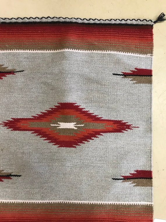 Vintage Indian Throw Rug