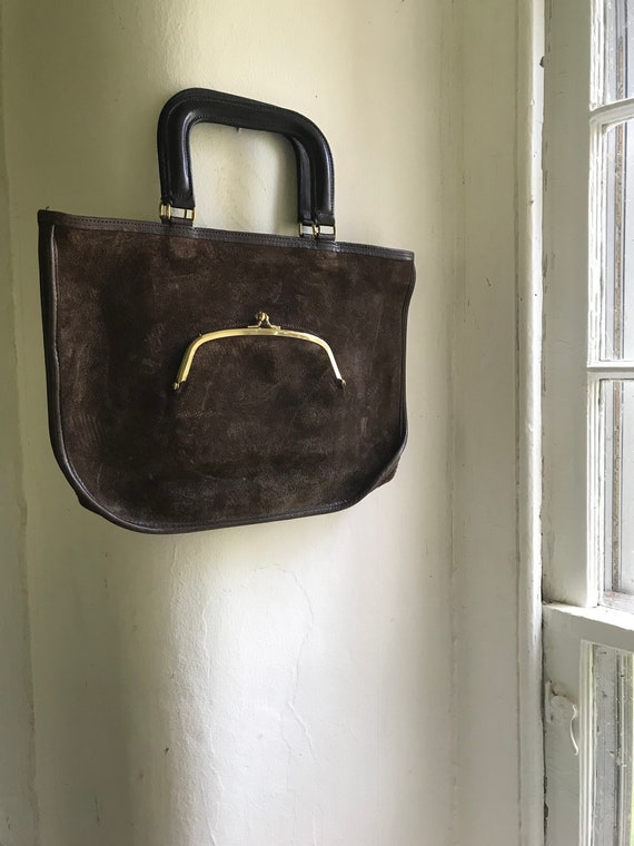 Vintage Suede Coach Bag