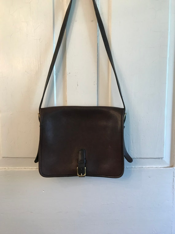 Vintage Coach Crossbody Saddle Bag