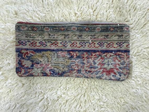 """Vintage Pile Rug Lumbar Pillow 12""""x24"""""""