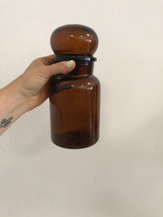 Vintage Belgium Apothecary Jar