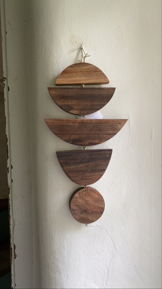Walnut + Hemp Chord Wall Hanging