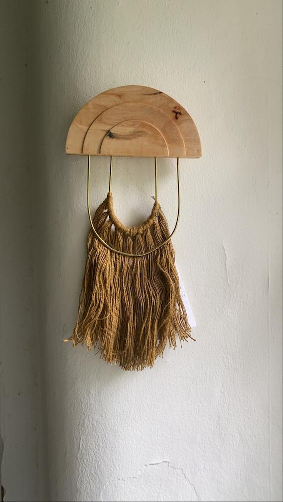 Small Maple, Brass + Linen Wall Hanging