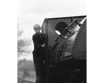 Locomotive, Mid Suffolk Light Railway, Signed Art Print / Black and White Railway Photography / Train Photo