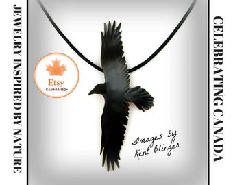 raven jewelry, crow necklace, crow jewelry, raven necklace, goth raven, crow pendant, Halloween necklace, raven totem, corvus, spirit guide