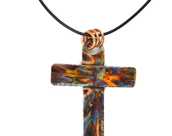 cross pendant, cross necklace, cross jewelry, religious jewelry, Christian jewelry, confirmation, baptism, first communion, copper cross