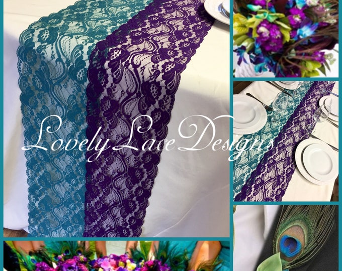 Navy/blue/teal/purple - LovelyLaceDesigns
